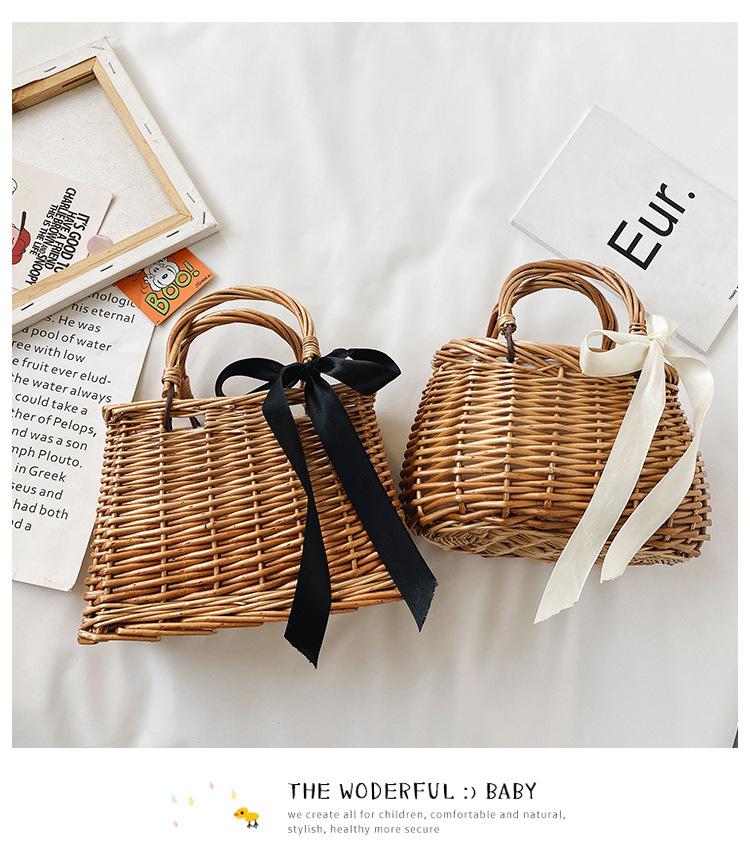 Girl Mini Purses and Straw Hand bag