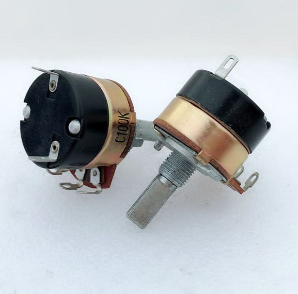 1pcs/lot  C100K High Quality 24MM With Switch Potentiometer 100K Switch Loud