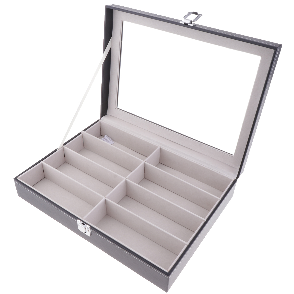 Multifunctional Sunglasses Organizer For Eyeglasses Eyewear Display Case, Sunglass Glasses Storage Box With 8 Slots
