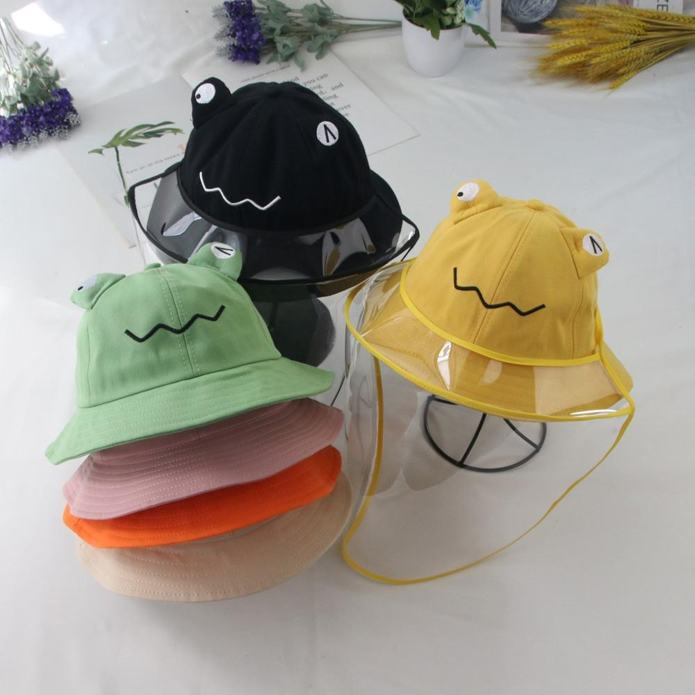 Protective Cap Child Anti-spitting Hat Dustproof Cover Cap Bucket Hat Summer Cute Pattern Simple And Functional Dustproof