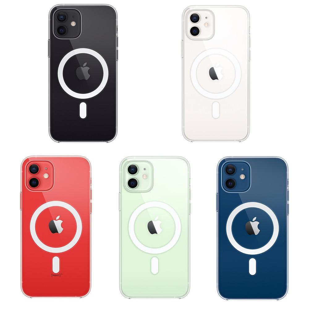 Прозрачный чехол из ТПУ для iPhone 12 MINI 12 Pro Max, прозрачный чехол с магнитным беспроводным зарядным устройством, магнитный чехол для телефона, 2021