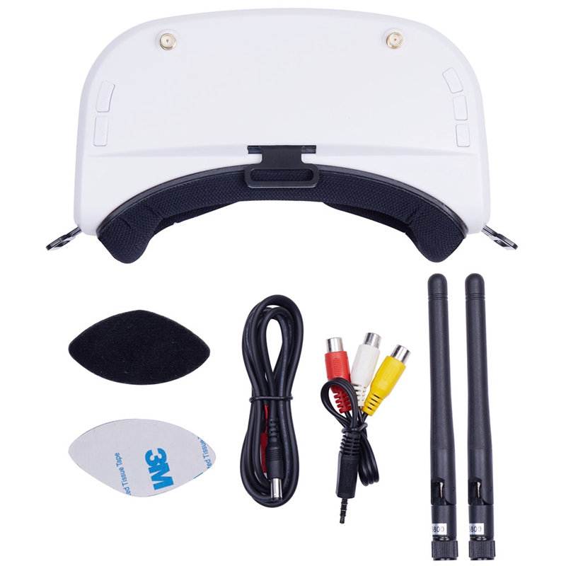 5.8G 48CH 5 Inch 960x240 Video Headset HD DVR Diversity FPV Goggles Video Glasses with Battery for RC Model RC Drone Parts