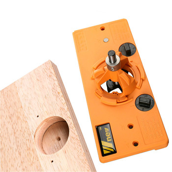 Nowy ukryty 35MM puchar styl zawias Jig otwór nudne wiertło naprowadzające + Forstner Bit przyrząd do cięcia drewna obróbki drewna stolarz narzędzia diy tanie i dobre opinie FNICEL Rdzeń wiertła diamentowe Maszyny do obróbki drewna 35mm hinge drilling jig Wiercenia drewna Inne