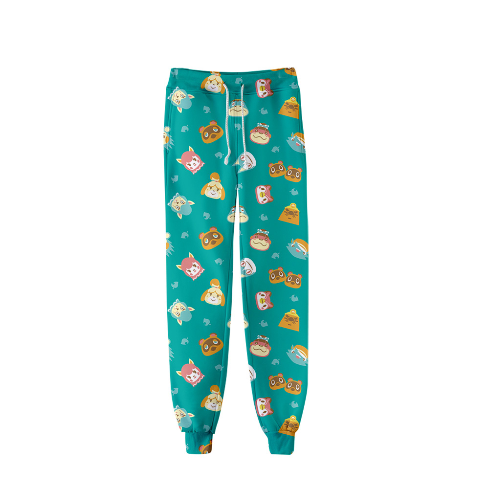 Cartoon Animal Crossing Fashion Printed Trousers Jogger Pants Women/Men Streetwear Long Pants Casual Sweatpants Good Quality
