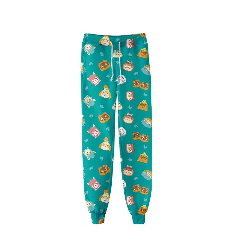 Cartoon Animal Crossing Fashion Printed Trousers Jogger Pants Women/Men Streetwear Long Pants Casual Sweatpants Good Quality