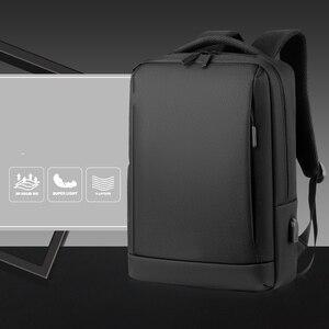 "Image 4 - Mochila masculina para laptop 14 "", antirroubo, de viagem, para laptop, casual, feminina, com carregamento usb"