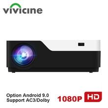 Vivicine M18 1920X1080 настоящий Full HD проектор, HDMI USB PC 1080p светодиодный домашний мультимедийный видеопроектор с поддержкой AC3