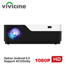 Vivicine M18 1920X1080 Real Full HD Projector, HDMI USB PC 1080p LED Home Multimedia Video Game Projector Proyector Ondersteuning AC3(China)