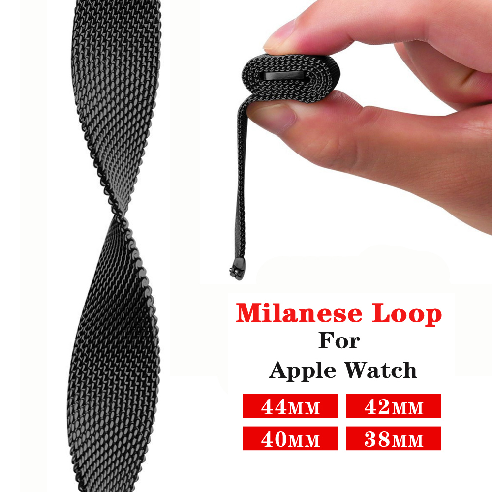 Milanese Loop Pulseira For Apple Watch Band 4 44mm 40mm (iwatch 5) Applewatch 3 2 1 Strap 42mm 38mm Stainless Steel Accessories