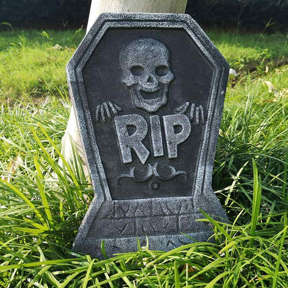 1 PcฮาโลวีนFoam Tombstone Skeleton Tombstone HauntedหินProps Grisly Party Yard House Decorตกแต่งบาร์Rip A1U1