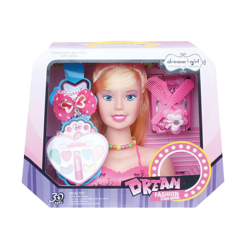 Styling Head Doll Fashion Head Hairdressing Styling Childrens Dressing Makeup Simulation Dolls Rich Hair Accessories Exquisite Gift Box