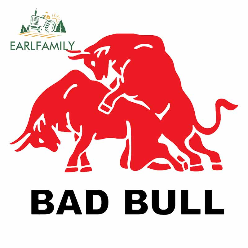 EARLFAMILY 13cm for Bad of Bull Car Sticker Window Car Bumper Stickers DIY Decal Window Scratch-proof Decoration for VAN RV SUV(China)