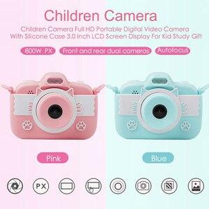 Image 2 - Детская камера Full HD Цифровая камера для детей 3,0 дюймов сенсорный экран дисплей детские игрушки камера для Рождественский подарок