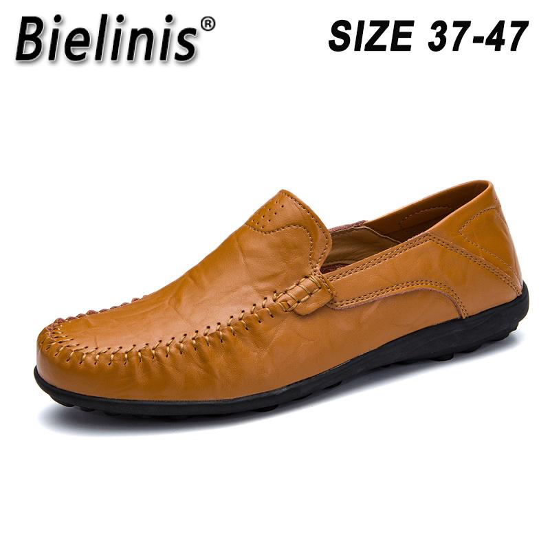 Genuine Leather Men Casual Shoes Italian Men Loafers Moccasins Slip On Men's Flats Breathable Hollow Out Male Driving Shoes