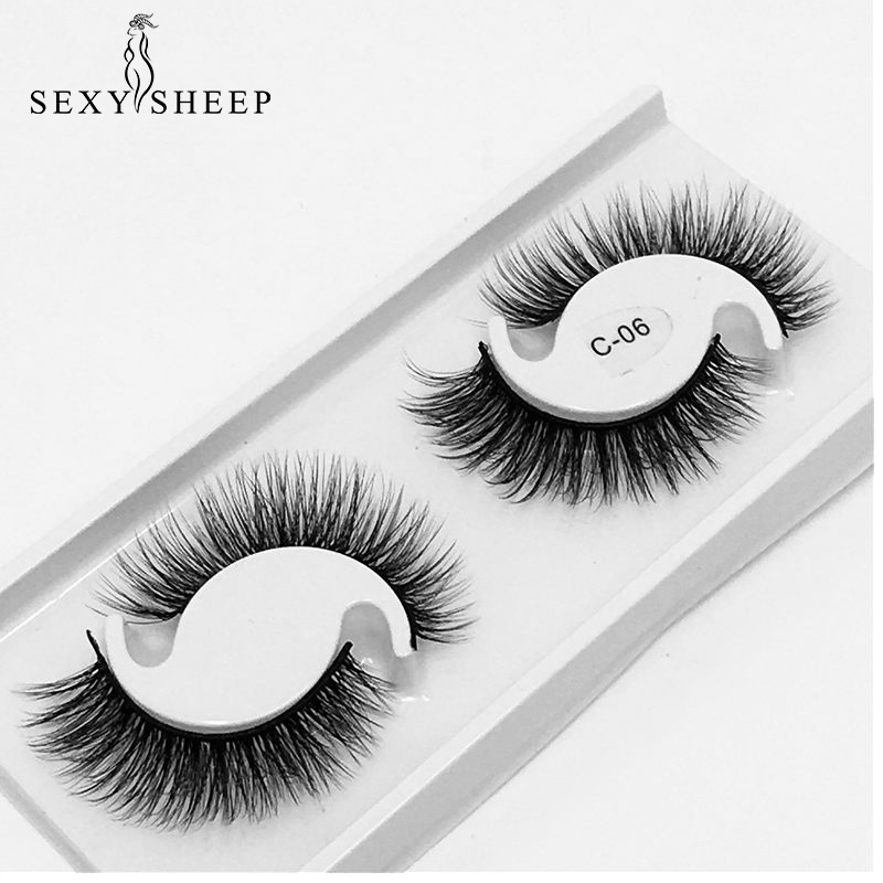 SEXYSHEEP 3D Chemical Fiber False Eyelashes Natural Realistic Eyelashes