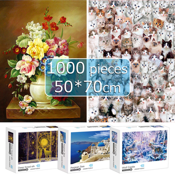 Puzzles 1000 Pieces 50*70 cm Jigsaw Puzzles Educational Toys Scenery Space Stars Educational Puzzle Toy for Kids birthday Gift 1000 pieces jigsaw puzzles educational toys scenery space stars educational puzzle toy for kids birthday gift stickers