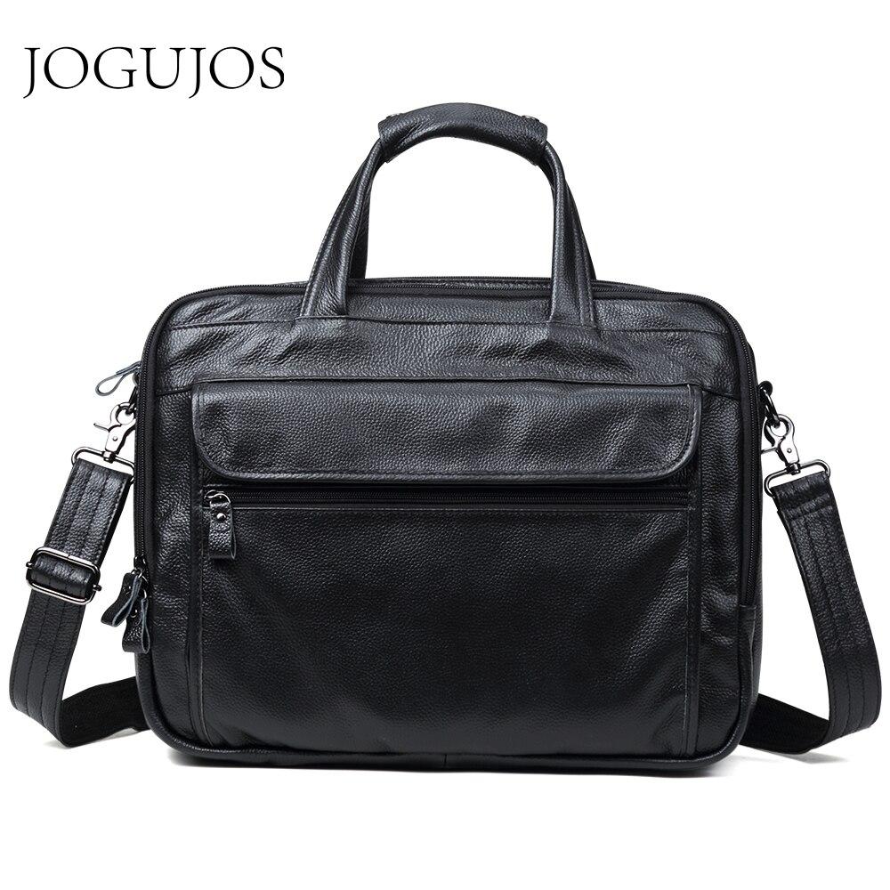 JOGUJOS Men Briefcases Genuine Leather 15