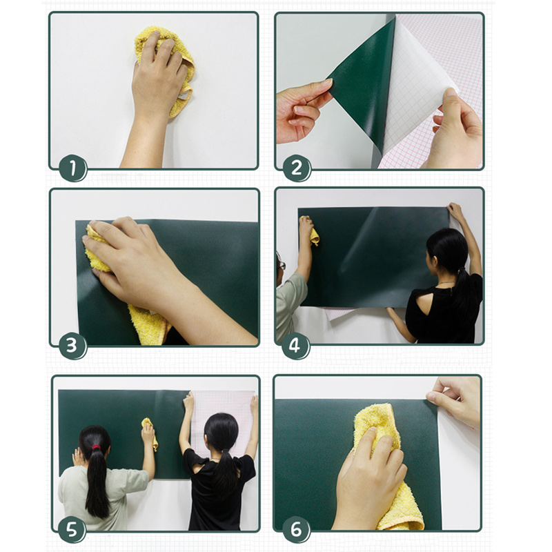 Erase Whiteboard Sticker Wall Decal Self-adhesive White Board Peel Stick Paper For School SP99