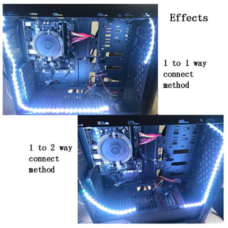 Interfaz SATA 50led tira de luz 60 LEDs/m cinta de diodo monocromática Kit completo para PC funda de ordenador blanco cálido blanco hielo azul verde