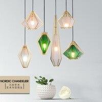 Modern LED pendant lights Glass Single Head hanging lamp Nordic simplicity Iron deco fixtures for bedroom restaurant bedside