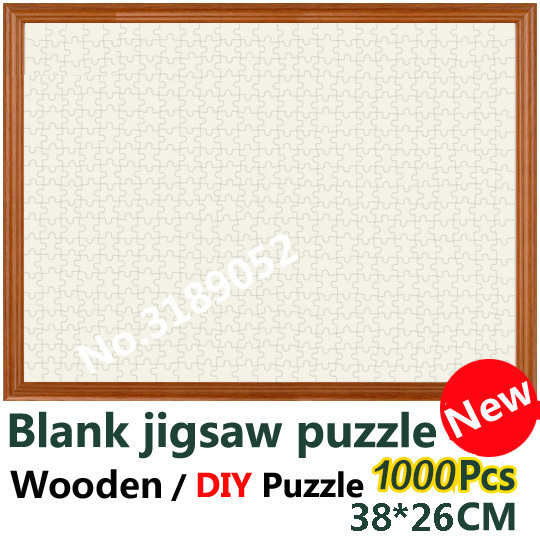 1000 Piece White Jigsaw Puzzle