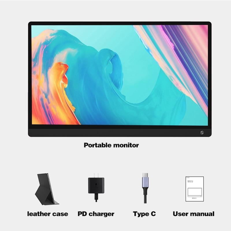 Monitor para videojuegos de 15,6 pulgadas, 1080p, HD, con USB tipo C, HDMI para interruptor de expansión, PC móvil, portátil, PS4, XBOX