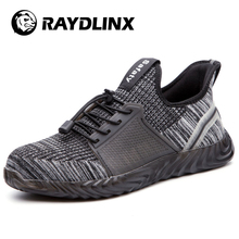 RAYDLINX Steel Toe Air Permeable Smash Proof Rubber Protective Summer Safety Shoes