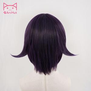 Image 3 - 【Anihut】ouma kokichiかつらdanganronpa V3 コスプレウィッグ紫人工毛合馬kokichiコスプレ