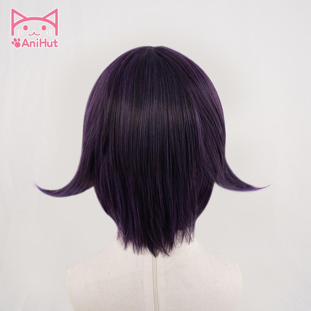 Image 3 - 【Anithu】ouma kokichi peruca danganronpa v3 cosplay peruca cabelo sintético roxo ouma kokichi cosplayFantasia de Anime   -