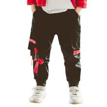 Spodnie dla chłopca list spodnie z nadrukiem chłopiec pełnej długości spodnie dla dzieci Cargo moda zimowa odzież dla nastoletnich chłopców 6 8 10 12 14 rok