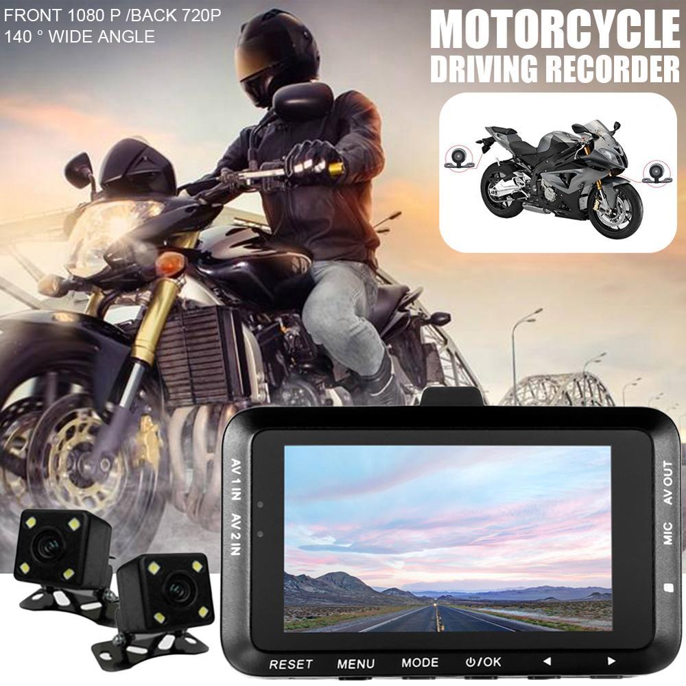Moto enregistreur Dash Cam Locomotive caméscope double lentille Dash Cam moto caméra Hd tête caméra moto Dvr offre spéciale