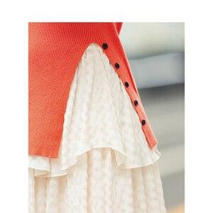 Image 4 - אינמן חורף חדש הגעה מינימליסטי מוצק צבע פיצול שרוול הולם בתוך ללבוש סוודר סוודר