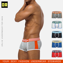 2ps BS brand mens boxers cotton sexy men underwear mens underpants male panties shorts U convex pouch for gay cheap 0850 BS101 Patchwork black gray white blue red breathable sexy gay sexy gay men underwear