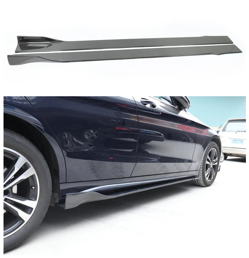 Carbon Fiber Side Skirt Lip <font><b>Spoiler</b></font> For <font><b>Mercedes</b></font>-<font><b>Benz</b></font> A <font><b>C</b></font> E CLA CLS <font><b>Class</b></font> W176 W177 <font><b>W204</b></font> W205 W238 W207 W213 W212 W218 W117 C257 image