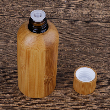 Bamboo Wood Essential Oil Sample Glass Bottles Vials With Orifice And Cap For Perfume Aromatherapy Container Sample Bottle Mar27 30pcs 2ml mini essential oil bottle jar orifice reducer