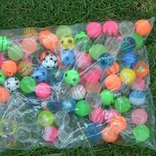 100 шт./лот забавные игрушечные шарики смешанные надувные мячи Твердые плавающие прыгающие Детские эластичные резиновые мячи надувные сенсо...