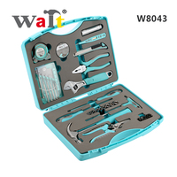 WAIT W8043 Blue Hand Tool Set Household Tool Kits Gift Tool Case Socket Wrench Screwdriver Knife for DIY Hand Tools