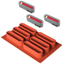 Long Strip Silicone Mold Mousse Cake Molds 6 Holes Chocolate Soap Mould Biscuit Cookie Baking Pan Kitchen Bakeware Accessories
