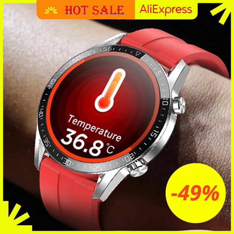 IPbzhe Смарт часы для мужчин термометр ЭКГ Смарт часы IP68 водонепроницаемый приборы для измерения артериального давления умные часы Reloj Inteligente для Huawei Xiaomi