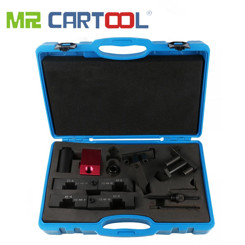 MR CARTOOL Engine Camshaft Alignment VANOS Timing Locking Tool Kit Set For BMW M60 M62 M62TU Car Repair Tool