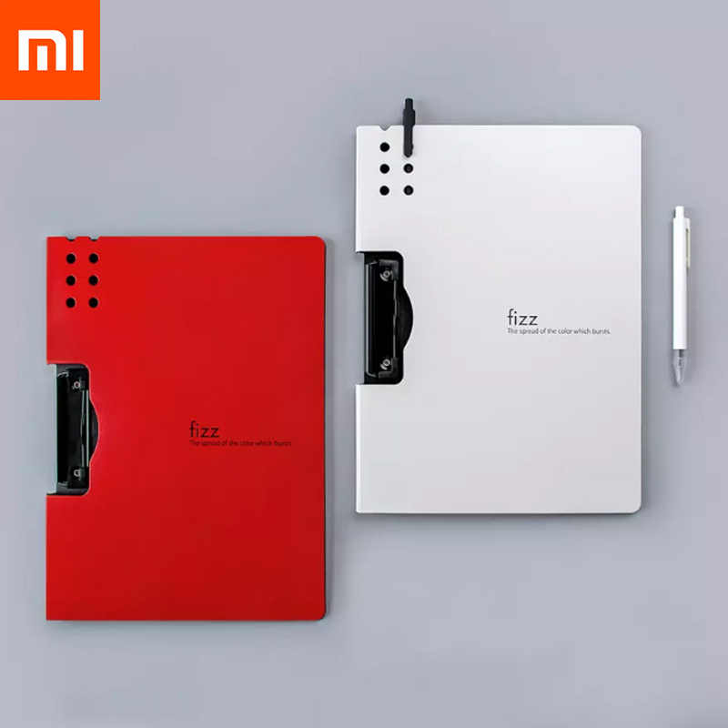 Xiaomi Fizz Horizontal A4 Folder Tekstur Matte Portable Pad Portable Pen Tray Menebal Tas Sekolah Office Supplies