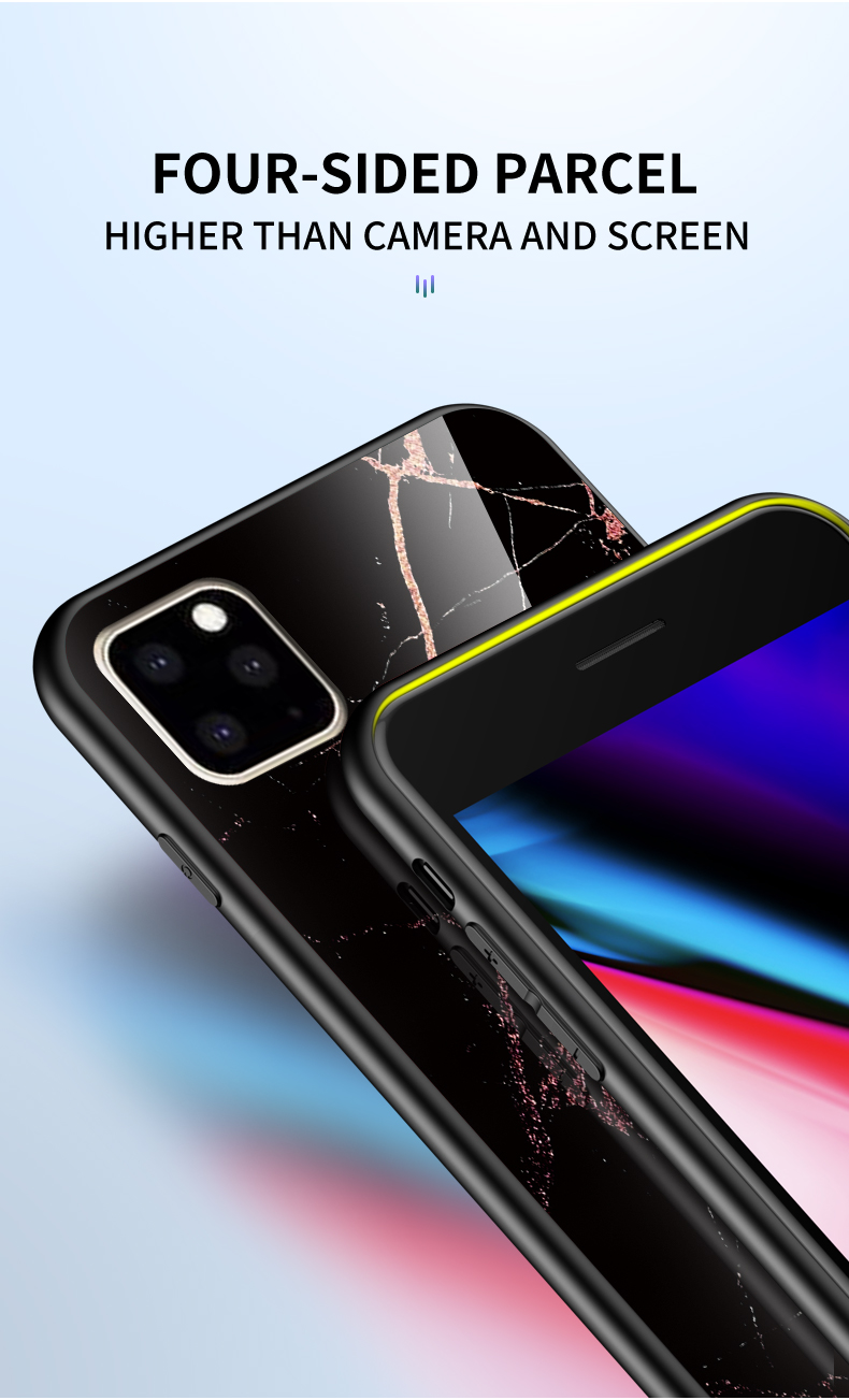 KEYSION Marble Tempered Glass Case for iPhone 11/11 Pro/11 Pro Max 6