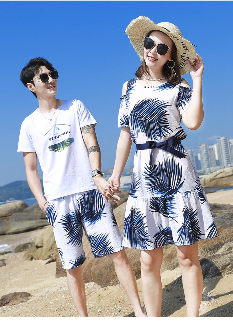 H4cd81e3a3d4448169edf922421894ad76 - Summer Family Matching Outfits Mother Daughter Beach Vocation Dresses Summer Dad Son T-shirt+Shorts Couples Matching Clothing