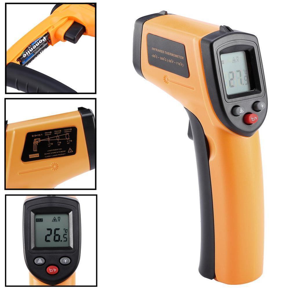 Digital IR Infrared Laser Gun Thermometer Temperature Thermal Heat Sensor Gauge