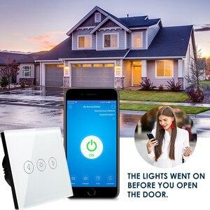 Image 3 - EU Mờ WIFI Điều Khiển Công Tắc Cảm Ứng Wallpad âm Tường Kính Pha Lê Bảng Điều Khiển Nhà Thông Minh Alexa Google Home IOS Android