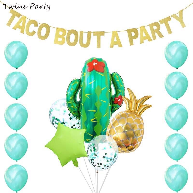 Jumeaux fête mexicaine fête décoration Taco Bout A partie décoration Cactus ballons mariage bébé douche joyeux anniversaire fête décor
