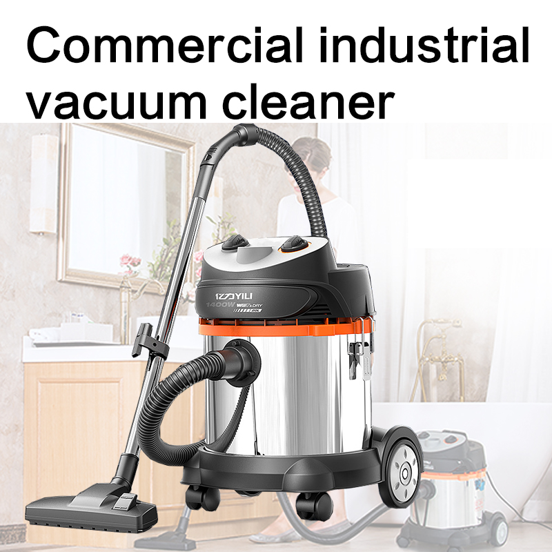 Commercial industrial vacuum cleaner dry and wet blowing bucket type high power silent strong household factory workshop vacuum