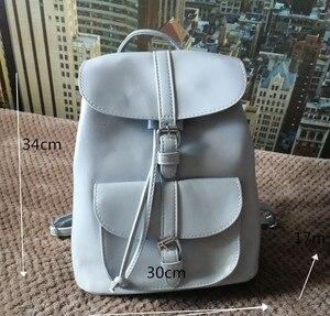 Image 3 - Miyahouse PU skórzane plecaki modne kobiece sznurkiem torby podróżne Retro torby szkolne kobiety wysokiej jakości plecak Mochila
