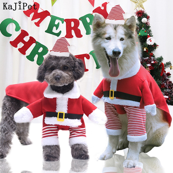 Funny Christmas Dog Clothes For Small Dogs Cat Winter Large Christmas Clothes For Dogs Jacket Outfit Soft Christmas Pet Clothing image