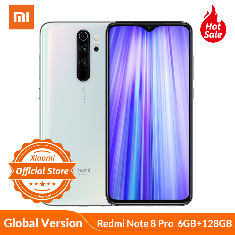 Global Version Xiaomi Redmi Note 8 Pro 6GB 128GB Mobile Phone 64MP Quad Camera MTK Heilo G90T Octa Core Smartphone 4500mAh NFC
